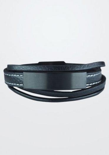 pulsera 3 bandas black